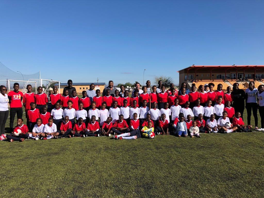 Football players and team of the Kasaona Football Academy