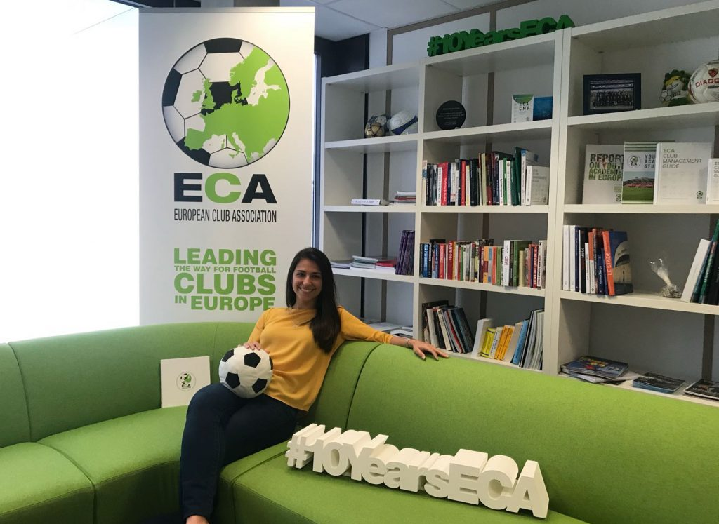 Raquel Madruga internship at European Club Association