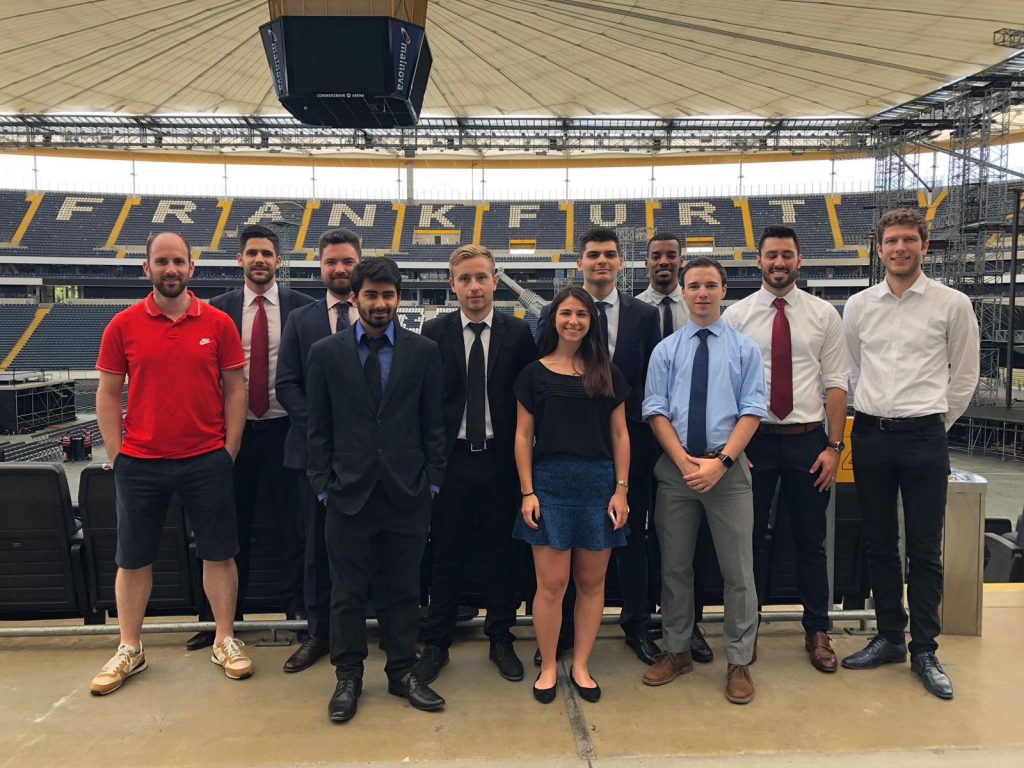 FBA students at Commerzbank-Arena stadium