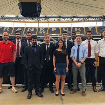 FBA students at Commerzbank-Arena stadium