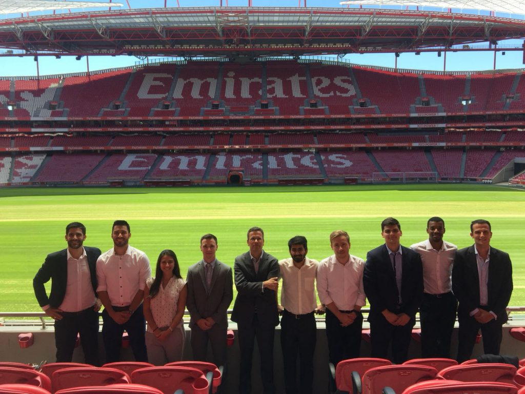 FBA Students at Benfica SL stadium