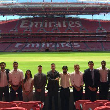 FBA Students at Benfica SL stadium