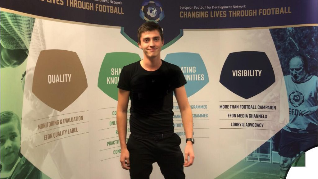 Kevin Garcia internship at European Football for Development Network (EFDN)