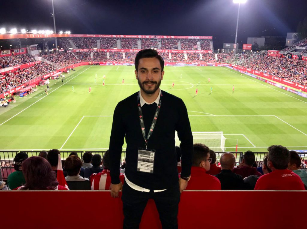 David Castro internship at Girona FC