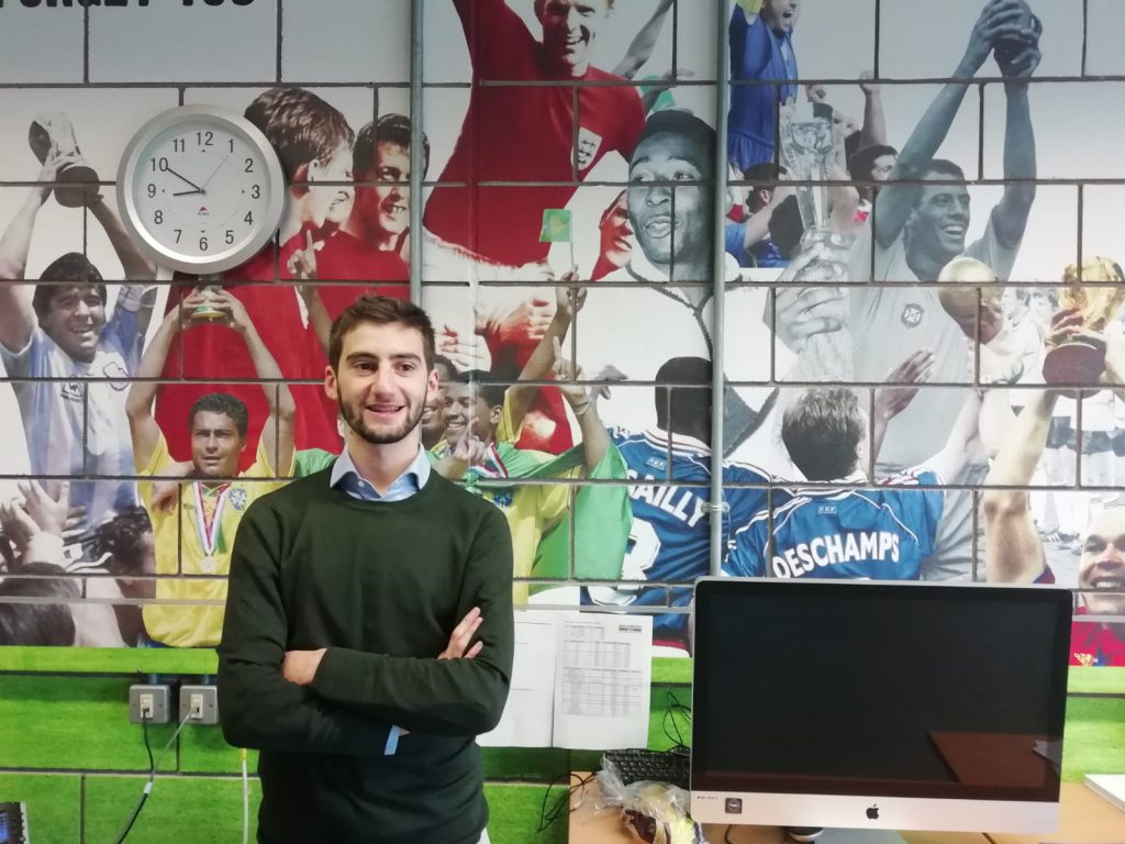 Francesco Gizzi internship at Soccerex