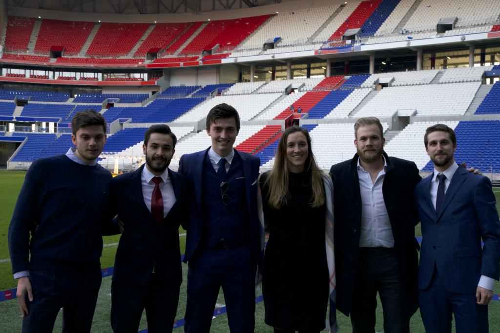 FBA students at Olympique Lyonnais stadium