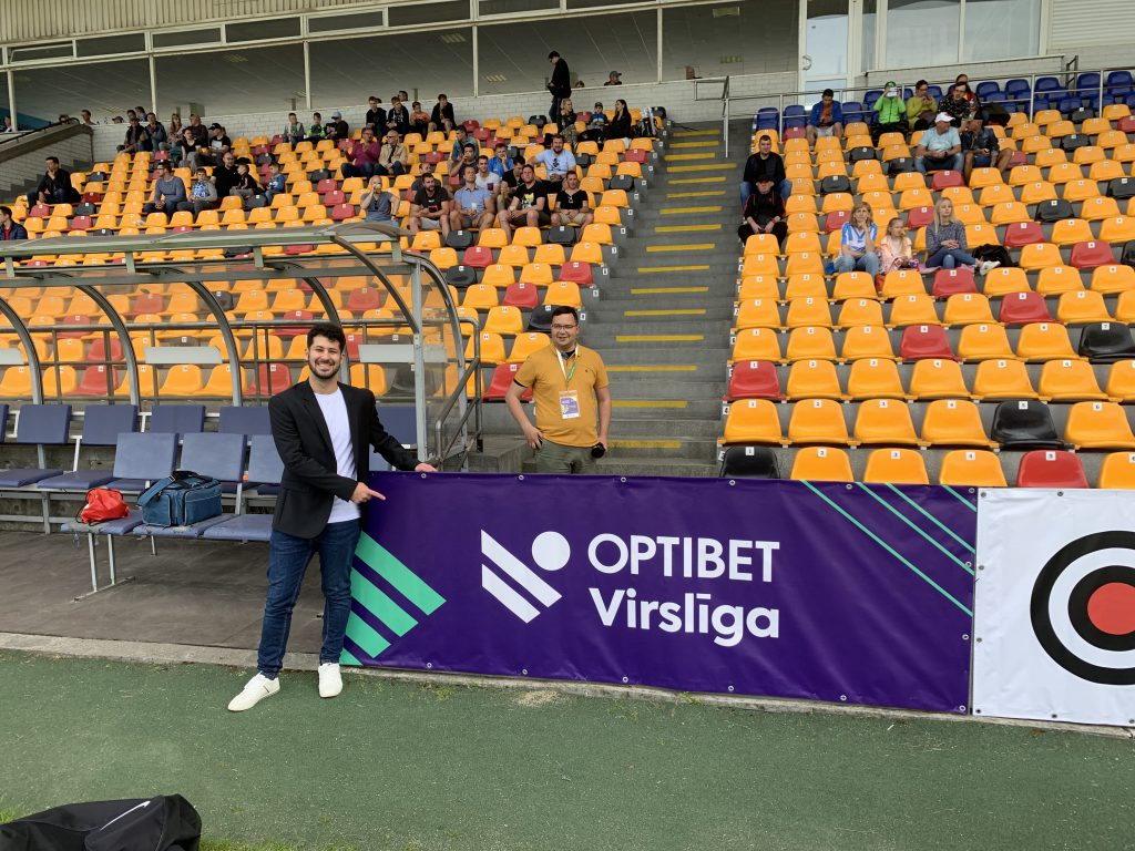 Gustavo Azevedo internship at Virslīga, the Latvian Premier League