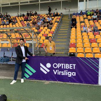 Gustavo Azevedo internship at Virslīga, the Latvian Premier League