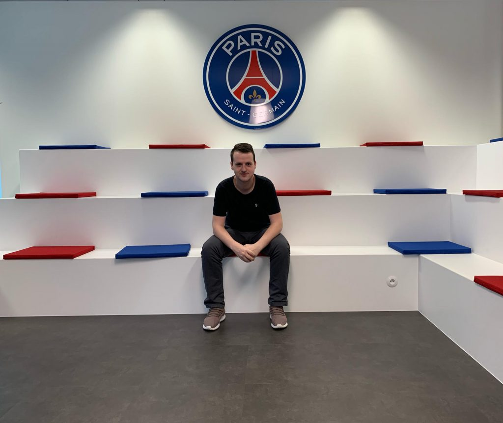 Mikael Coehlo internship at Paris Saint-Germain