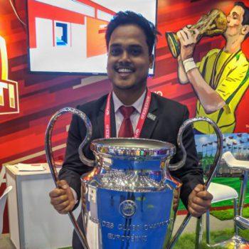 Ronit Kumar Samal at Soccerex Week China