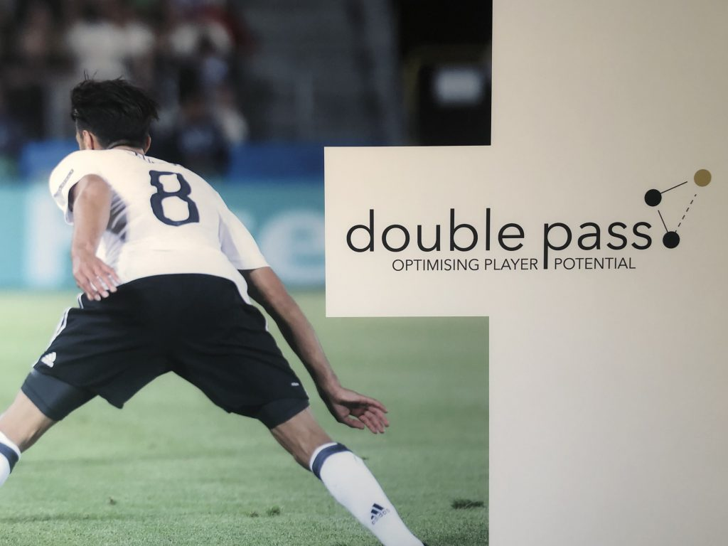 Double Pass Logo football player image