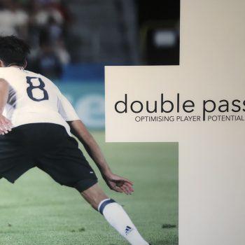 Double Pass Logo football player image