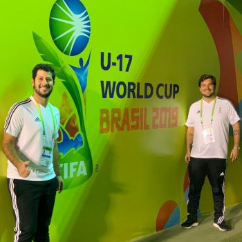 Guilherme Casanova and Gustavo Azevedo in their new jobs at the FIFA U-17 World Cup 2019