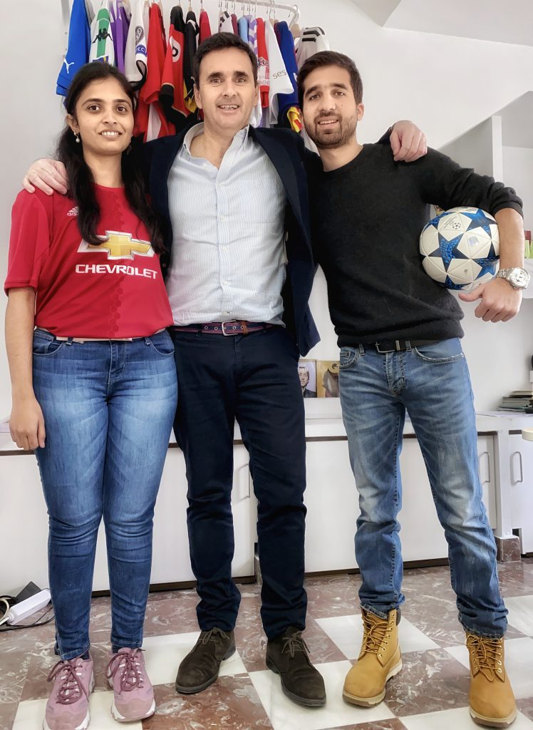 Megha Gadag and Carlos Felipe Pabon internship in Arowana Sports